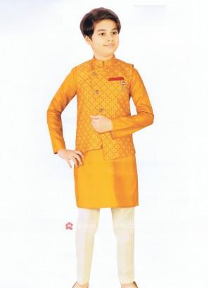 Boys Dark Grey Nehru Jacket