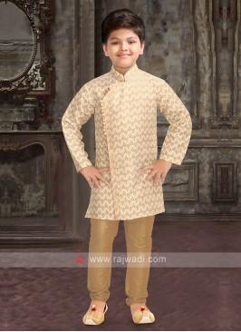 Boys Cream Kurta Pajama
