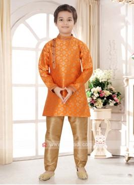 Boys Orange Kurta Pajama