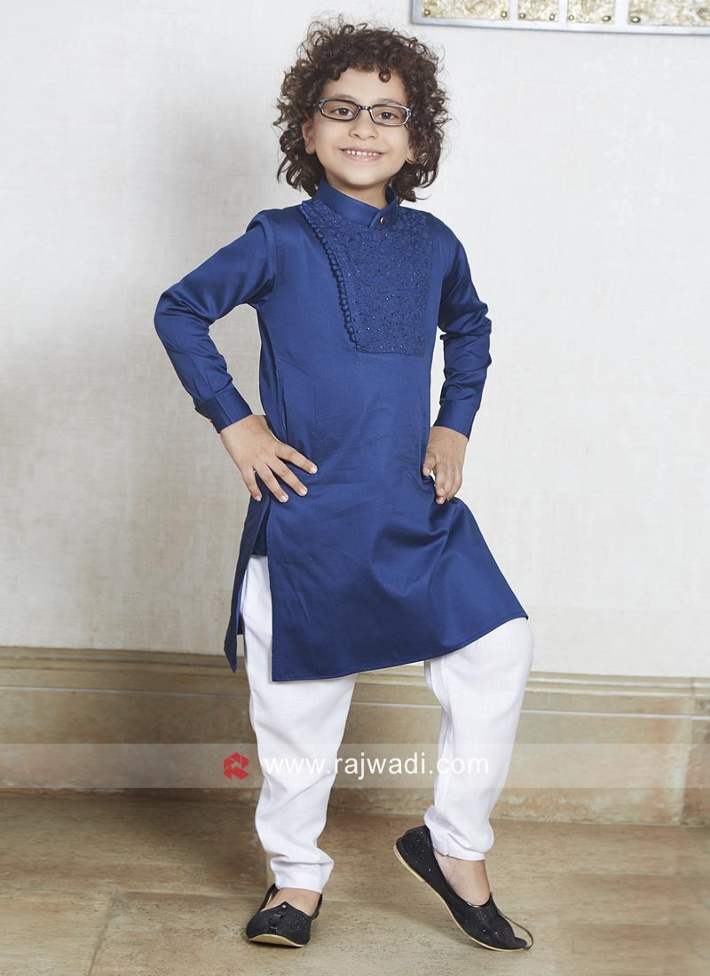 Boys Pathani Suit with Fancy Button