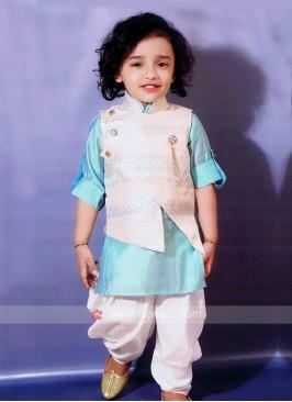 Boys Pathani Suit With Nehru Jacket