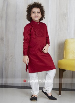 Boys Pathani Suit with Side Buttons