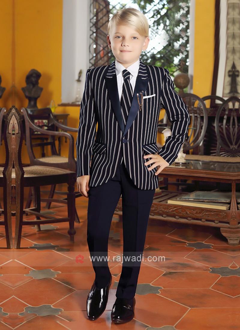 Boys Striped Party Wear Suit