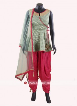 Brasso Chiffon Dhoti Style Suit