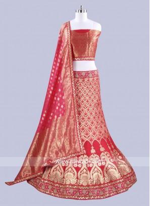 Bridal Brocade Silk Lehenga Choli