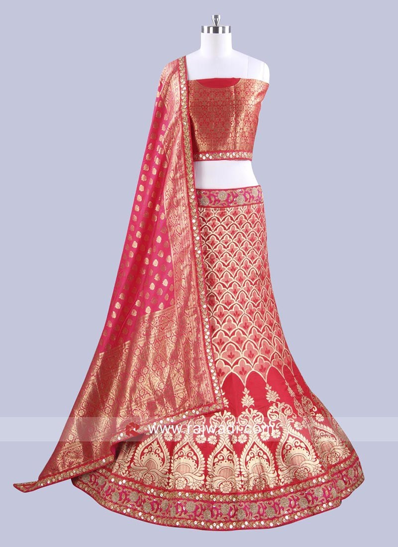 Bridal Brocade Silk Lehenga Choli