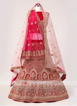 Bridal Dark Rani Lehenga Choli