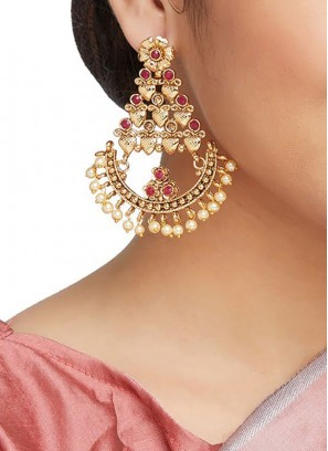 Attractive Earring In Red Color