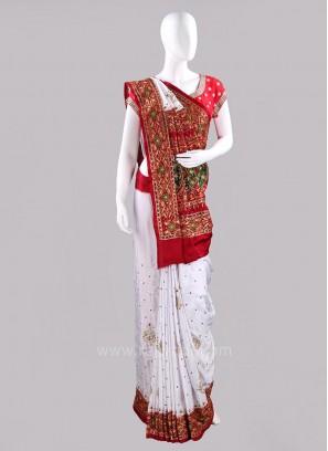 Bridal Gajji Silk Gharchola Saree