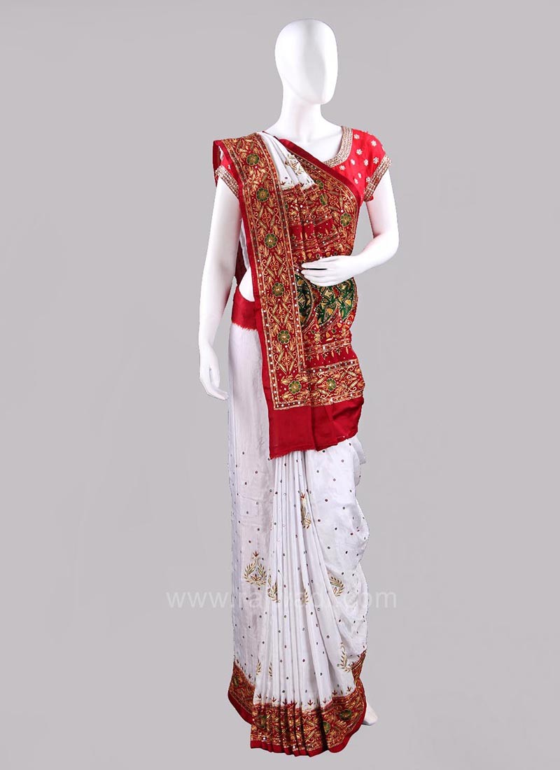 Bridal Gajji Silk Gharchola Saree