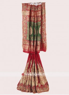 Bridal Gajji Silk Panetar Saree