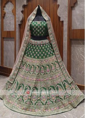 Bridal green colour lehenga choli