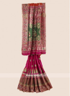 Bridal Heavy Embroidered Gharchola Saree