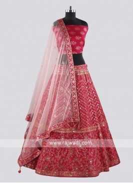 Bridal Heavy Embroidery Lehenga Set