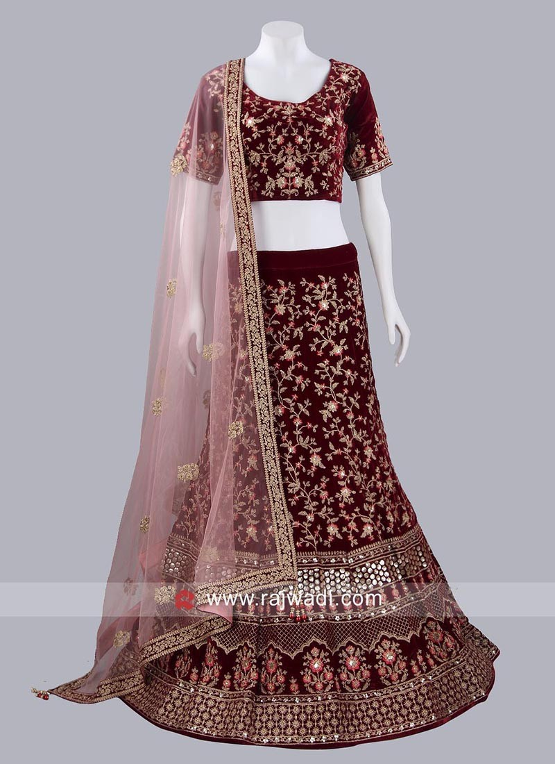 Bridal Lehenga Choli in Velvet