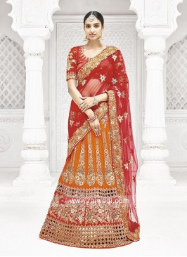 Bridal Lehenga Saree with Designer Blouse