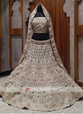 Bridal grey colour lehenga choli