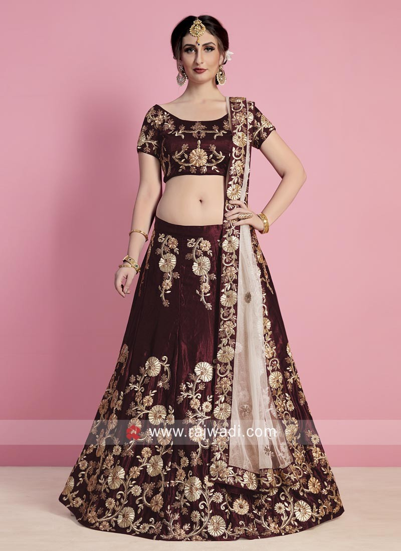 Bridal Maroon Heavy Lehenga Set