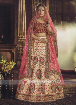 Bridal Patch Work Wedding Lehenga Choli