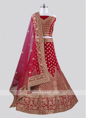 Bridal Rani Color Lehenga Choli