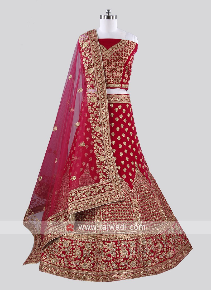 Bridal Rani Color Lehenga Choli