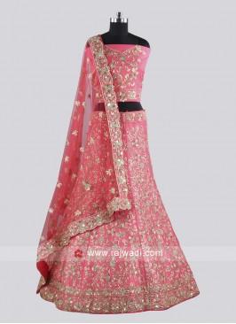 Bridal Raw Silk Lehenga Choli