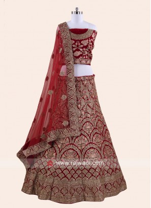 Bridal Red Heavy Lehenga Set