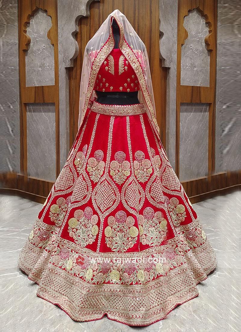 Bridal red lehenga choli