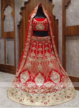 Bridal red lehenga choli