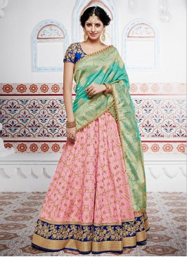 Bridal Silk and Banarasi Silk Lehenga Saree