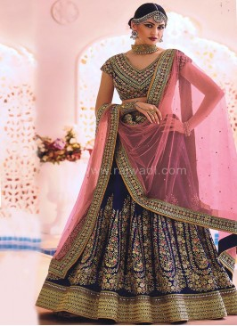Bridal Silk and Net Lehenga Saree