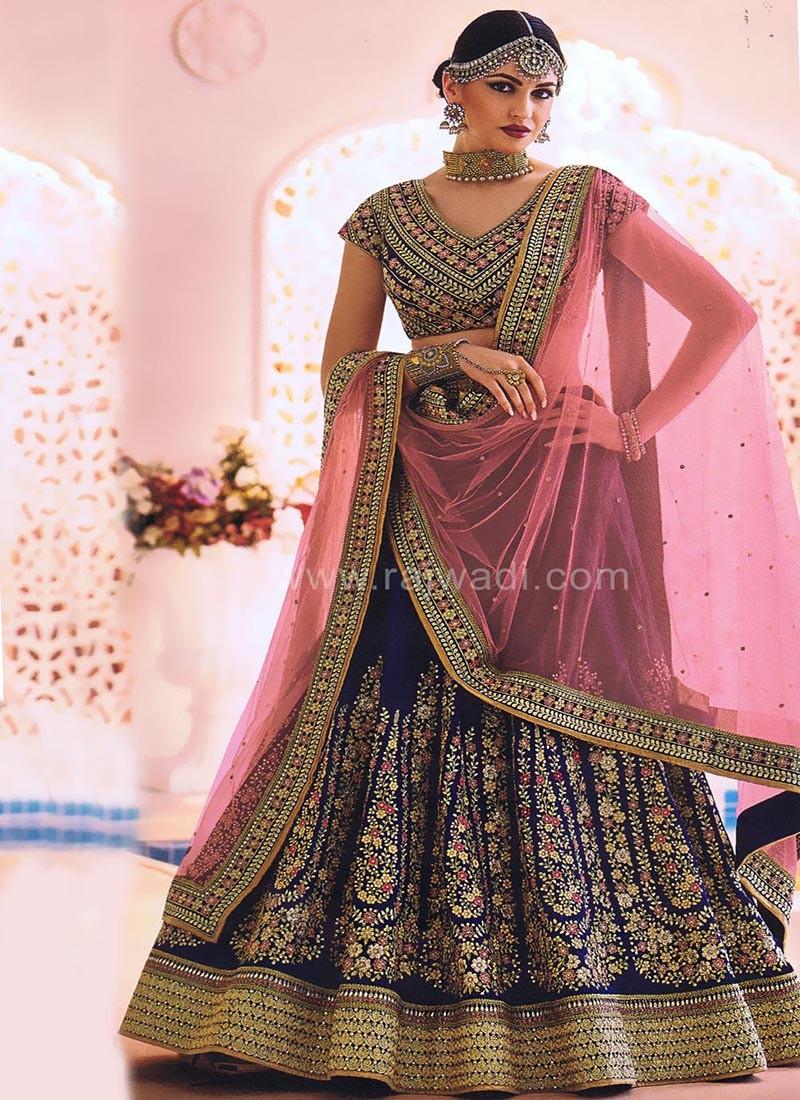 Bridal Silk and Net Lehenga Saree