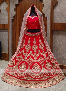 Bridal silk red lehenga choli