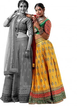 Bridal Traditional Raw Silk Choli Suit