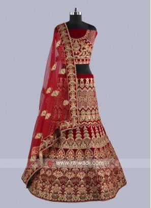 Bridal Velvet Heavy Lehenaga Choli