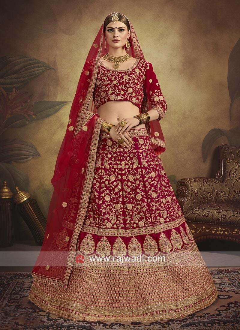 Bridal Velvet Heavy Lehenga Choli