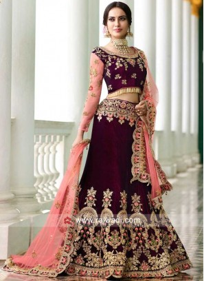 Bridal Velvet Heavy Lehenga Set