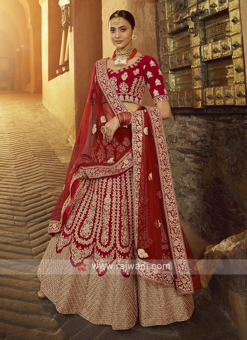 Bridal Velvet Lehenga Choli