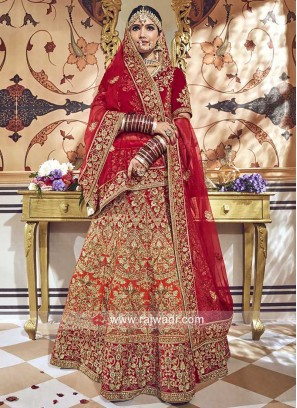 Bridal Velvet Shaded Lehenga Choli