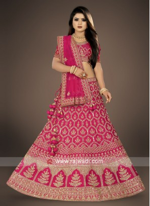 bridal wear rani Color Lehenga Choli