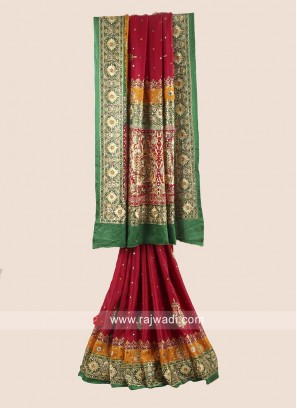 Bridal Wedding Heavy Gharchola Saree