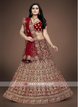 Bridal Wedding Lehenga Choli in Red