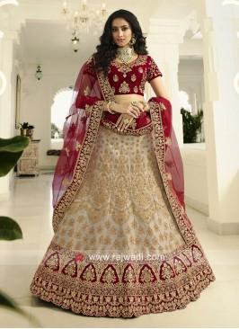 Bridal Wedding Lehenga Choli with Dupatta