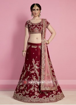 Bridal Wedding Lehenga in Maroon