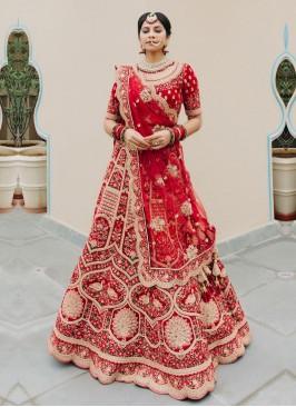 Bride Wear Lehenga Choli In Maroon Color