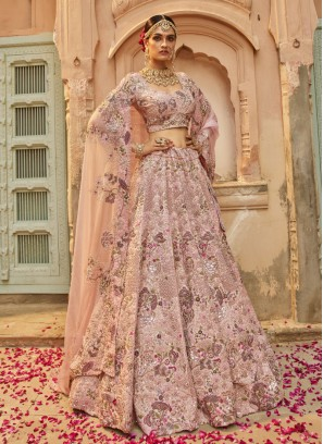 Bridal Lehenga Choli Peach Color