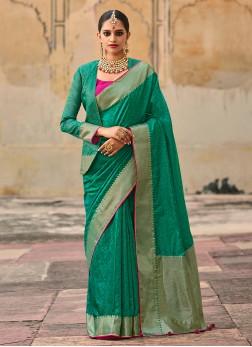 Bright And beautiful Banarasi Saree