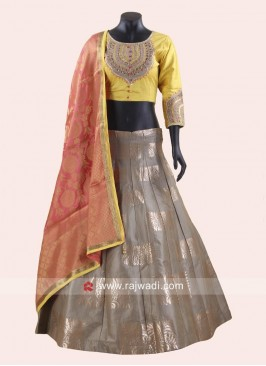 Brocade and Silk Lehenga Choli