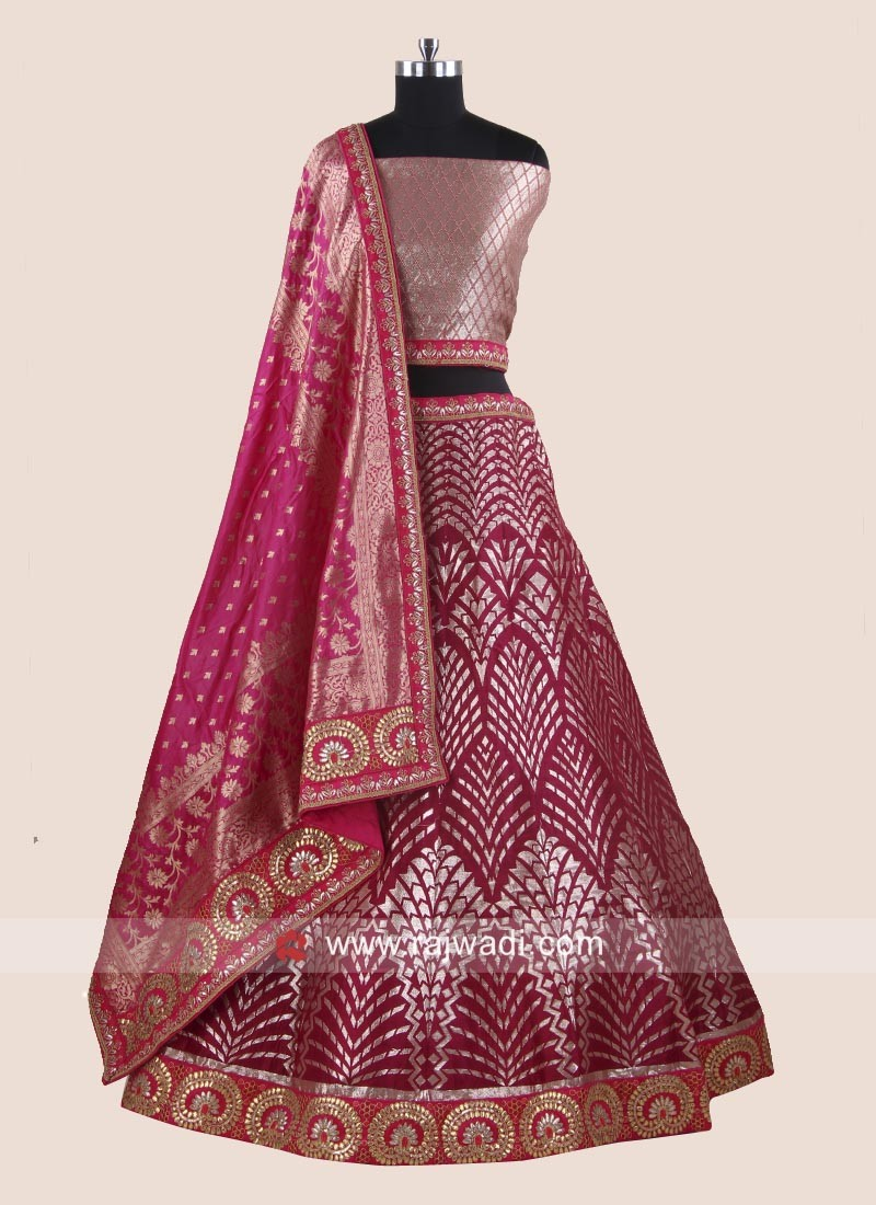 Brocade and Silk Wedding Lehenga Choli