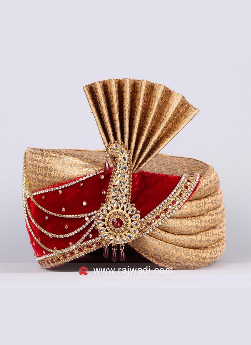 Brocade and Velvet Fabric Safa